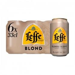 Leffe Blond abdijbier 6-pak blikjes