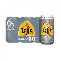 Leffe Blond 0.0 abdijbier 6-pak blikjes