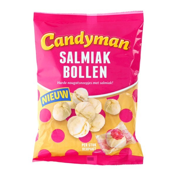 Candyman Salmiak bollen 125 gram