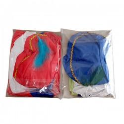 Pietenpakje 3-4 jaar Blauw of rood