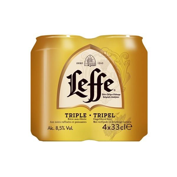 Leffe Tripel abdijbier 4-pak blikjes