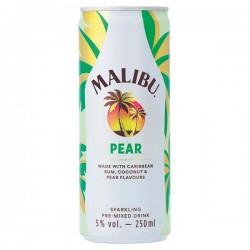 Malibu rum met Peer Blik 250 ml