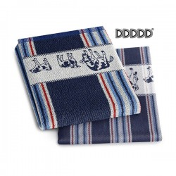DDDDD Theedoek Friesian blauw