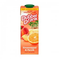 Dubbeldrank Sinaasappel-perzik 1 liter
