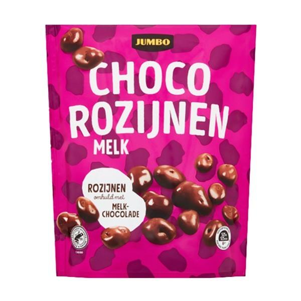 Huismerk Choco rozijnen 200 gram