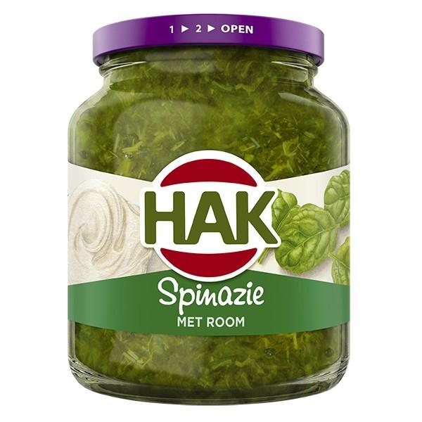 Hak Spinazie met room 345 gram