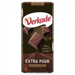 Verkade chocolade reep Extra puur 111 gram