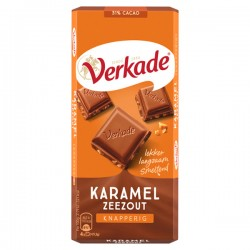 Verkade chocolade reep Karamel zeezout 111 gram