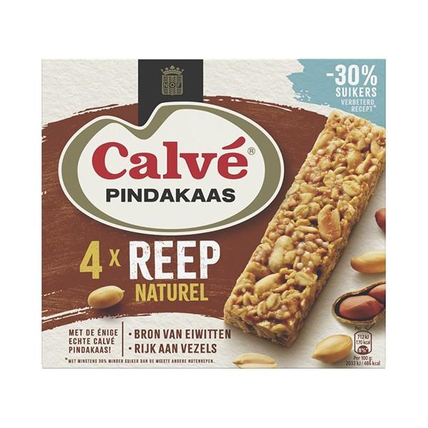 Calvé Pindakaas reep Naturel 4-pak