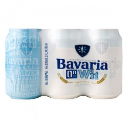 Bavaria 0.0 Wit bier 6-pak blikjes