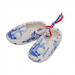 Delfts Blauwe Klompjes aan lint 8 cm