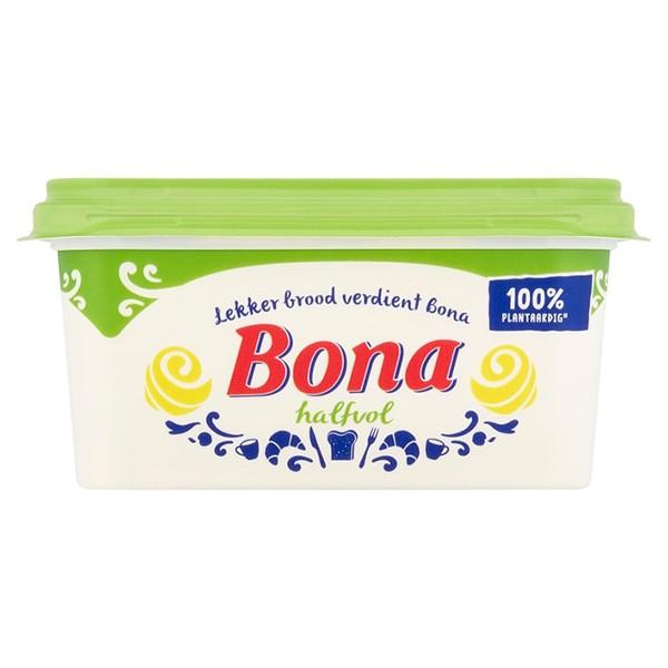 Bona margarine halfvol 100% plantaardig 500 gram
