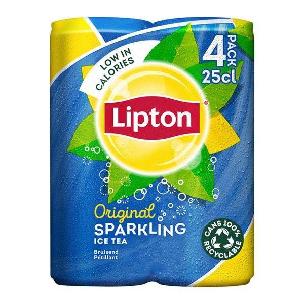Lipton sparkling Ice tea 4-pak blikjes