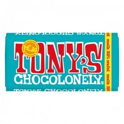Tony's Chocolonely melk-pennywafel chocolade reep 180 gram