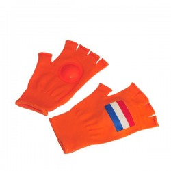 Oranje klap handschoenen