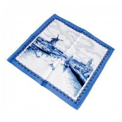 Delfts Blauwe servet met Hollands landschap