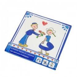 Wenskaarten set Delfts blauw 6 stuks