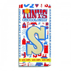 Tony's chocolonely chocolade letter Wit