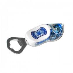 Flessen opener met klomp Delfts blauw