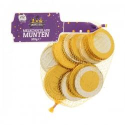 Huismerk chocolade munten 100 gram